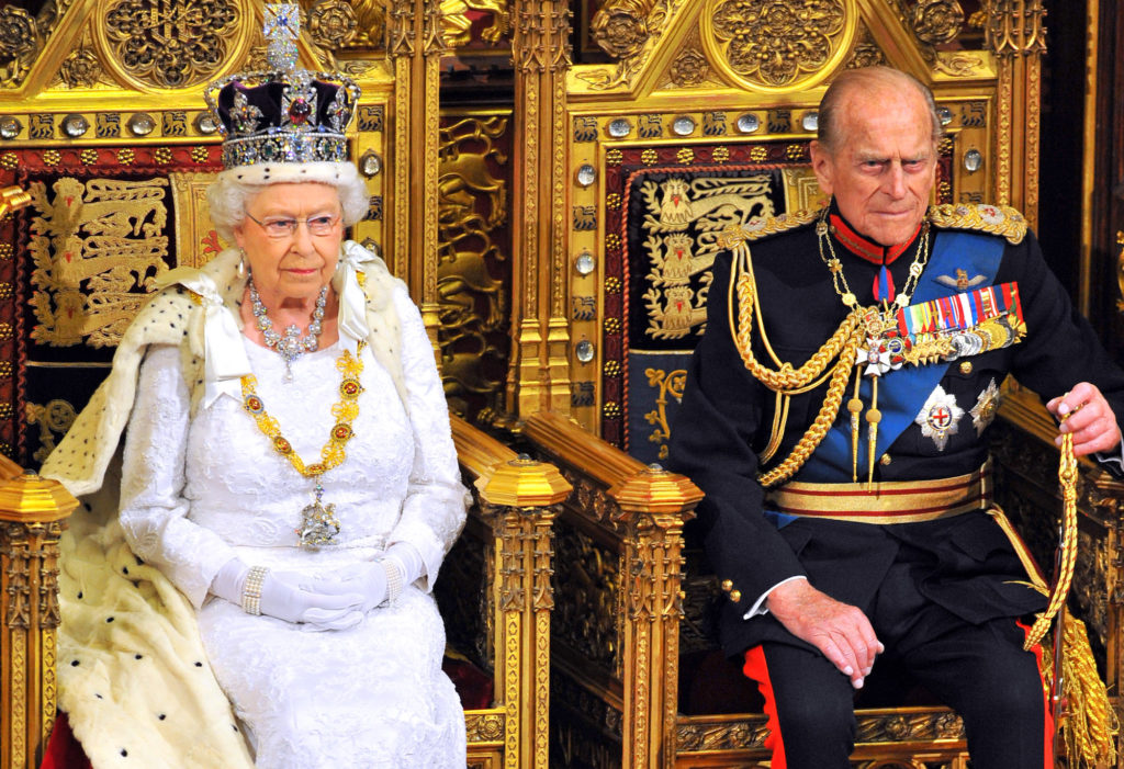 The Queen at the The State Opening Of Parliament with Prince Philip.