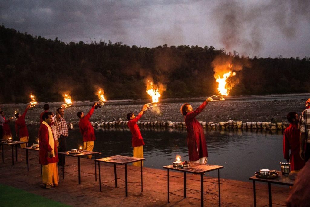 Ganga-Aarti-at-Triveni-Ghat-Rishikesh